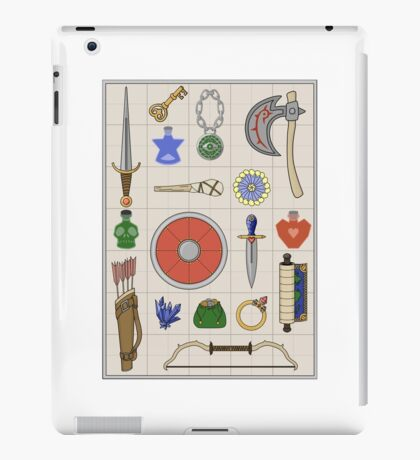 RPG Inventory Grid Pattern iPad Case/Skin