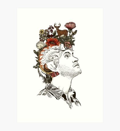 Will Graham NBC Mind Drawing  Art Print