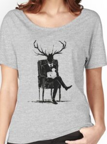 Hannibal Lecter NBC Stag Antlers Lamb Women's Relaxed Fit T-Shirt
