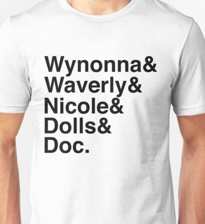 Wynonna Earp Names (black) Unisex T-Shirt
