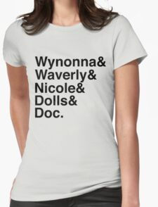 Wynonna Earp Names (black) Womens Fitted T-Shirt
