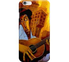 """""""GUITAR PLAYER"""" Abstract Art Print iPhone Case/Skin"""