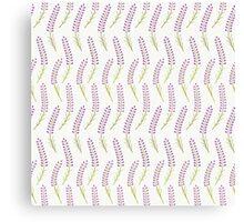 Cute lavender  seamless pattern. Romantic pastel wallpaper. Canvas Print