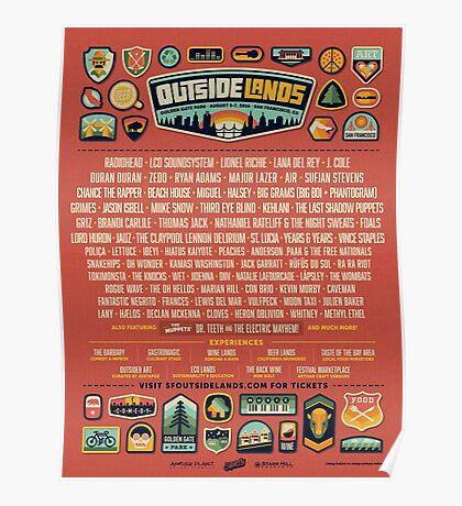 outside lands festival 2016 line up Poster