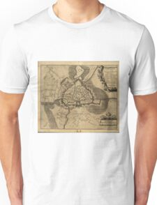 Vintage Map of Ghent Belgium (1709) Unisex T-Shirt