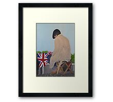 WAITING FOR THE QUEEN Framed Print