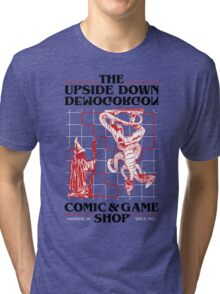The Upside Down Demogorgon - Stranger Things Have Happened Tri-blend T-Shirt