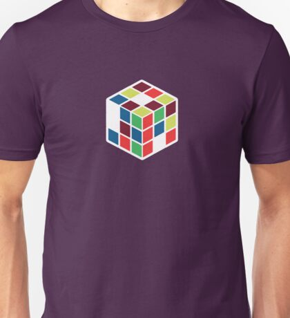 Rubik's Cube - Neon Body White Large Unisex T-Shirt