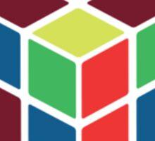 Rubik's Cube - Neon Body White Large Sticker