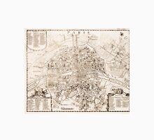 Vintage Map of Paris France (1742) Unisex T-Shirt
