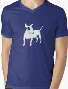 Cool Bull Terrier Doodle Mens V-Neck T-Shirt