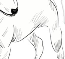 Cool Bull Terrier Doodle Sticker