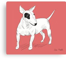 Cool Bull Terrier Doodle Canvas Print