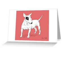 Cool Bull Terrier Doodle Greeting Card