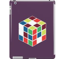 Rubik's Cube - Neon Body White iPad Case/Skin