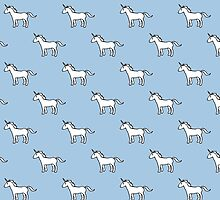 Cute Unicorn pattern by jezkemp
