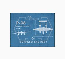 Buffalo Factory- P38 Blueprint Unisex T-Shirt