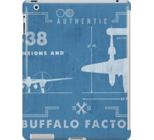 Buffalo Factory- P38 Blueprint iPad Case/Skin
