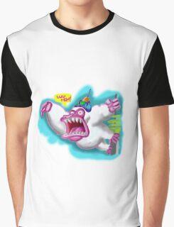 Futurama Inspired Screaming Albino Gorilla  Graphic T-Shirt