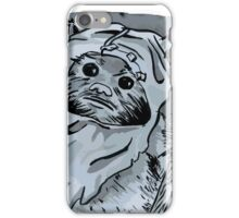 Ewok!! Mixed Media Illustration  iPhone Case/Skin