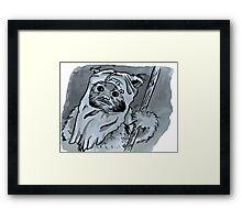 Ewok!! Mixed Media Illustration  Framed Print
