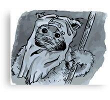Ewok!! Mixed Media Illustration  Canvas Print