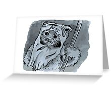 Ewok!! Mixed Media Illustration  Greeting Card