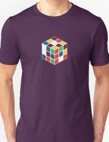 Rubik's Cube - Neon Body White T-Shirt