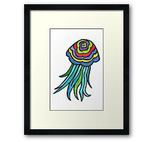 Colourful Jellyfish Framed Print