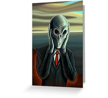 Silent Scream Greeting Card