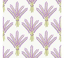 Lavender bouquet seamless pattern. Cute nature background.  Photographic Print