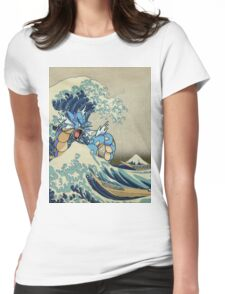 The Great Wave Off Gyarados Womens Fitted T-Shirt