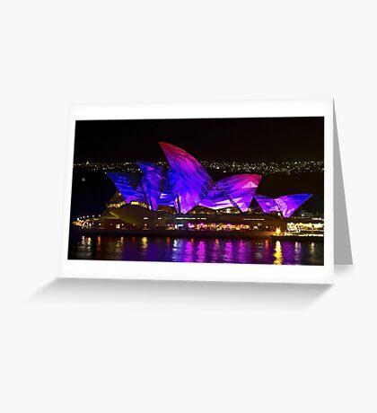 Panel Sails - Sydney Vivid Festival - Sydney Opera House Greeting Card