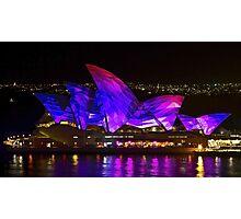 Panel Sails - Sydney Vivid Festival - Sydney Opera House Photographic Print