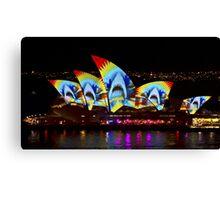Shark Sails - Sydney Vivid Festival - Sydney Opera House Canvas Print