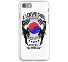 taekwondo korean made martial art sport kick shirt iPhone Case/Skin