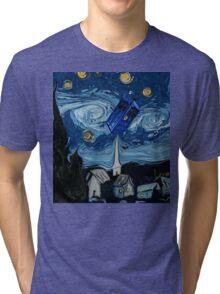 starry night tardis Tri-blend T-Shirt