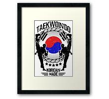 taekwondo korean made martial art sport kick shirt Framed Print