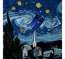 starry night tardis Photographic Print