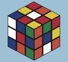 Rubik's Cube - Regular Body Black T-Shirt