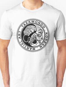 taekwondo beast dragon tiger ying yang korean made martial art sport kick shirt Unisex T-Shirt