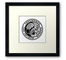 taekwondo beast dragon tiger ying yang korean made martial art sport kick shirt Framed Print