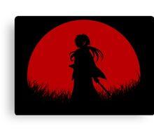 Red Moon Samurai Canvas Print