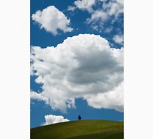 A lone tree under a heavy white cloud Unisex T-Shirt
