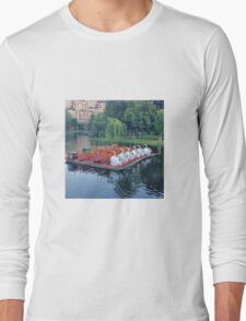 Boston Swan Boats Long Sleeve T-Shirt