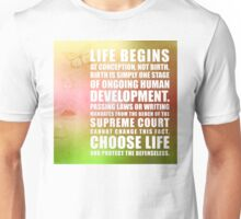 Life Begins At Conception Unisex T-Shirt