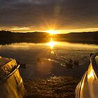 Narrabeen lake sunset by Doug Cliff