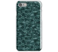 Digital Navy Pixel Camouflage Pattern iPhone Case/Skin
