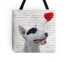 English Bull Terrier Banksy Style Tote Bag