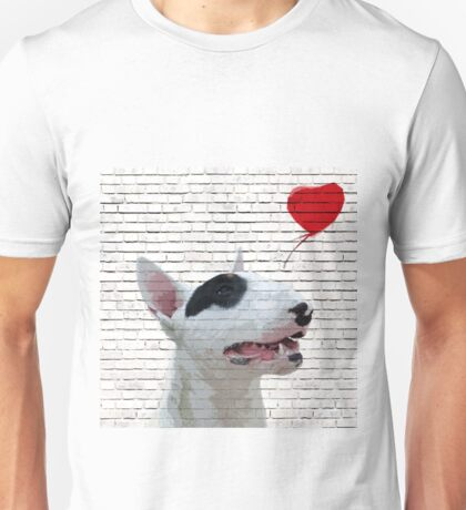 English Bull Terrier Banksy Style Unisex T-Shirt